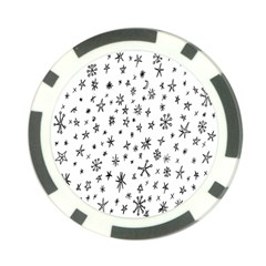 Star Doodle Poker Chip Card Guard by Mariart