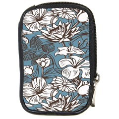 Star Flower Grey Blue Beauty Sexy Compact Camera Cases by Mariart