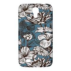 Star Flower Grey Blue Beauty Sexy Samsung Galaxy Mega 6 3  I9200 Hardshell Case