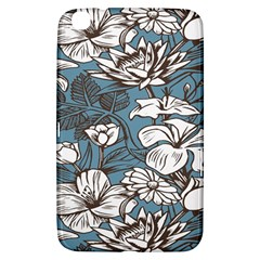Star Flower Grey Blue Beauty Sexy Samsung Galaxy Tab 3 (8 ) T3100 Hardshell Case  by Mariart