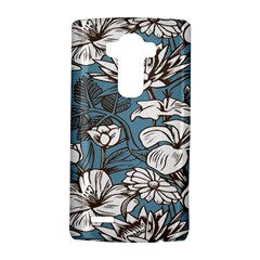 Star Flower Grey Blue Beauty Sexy Lg G4 Hardshell Case by Mariart