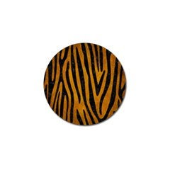 Skin4 Black Marble & Yellow Grunge (r) Golf Ball Marker (4 Pack) by trendistuff