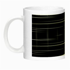 Stripes Black White Minimalist Line Night Luminous Mugs by Mariart