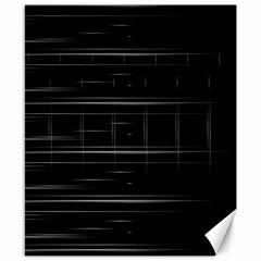 Stripes Black White Minimalist Line Canvas 8  X 10  by Mariart