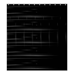 Stripes Black White Minimalist Line Shower Curtain 66  X 72  (large)  by Mariart