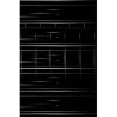 Stripes Black White Minimalist Line 5 5  X 8 5  Notebooks by Mariart
