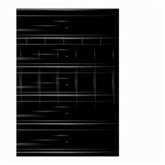 Stripes Black White Minimalist Line Small Garden Flag (two Sides) by Mariart