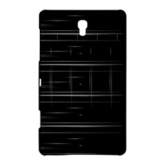 Stripes Black White Minimalist Line Samsung Galaxy Tab S (8 4 ) Hardshell Case  by Mariart