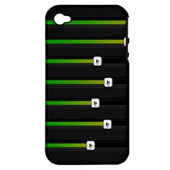 Stock Illustration Rendering Seven Volume Apple Iphone 4/4s Hardshell Case (pc+silicone) by Mariart