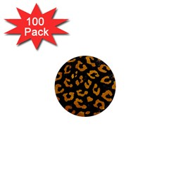 Skin5 Black Marble & Yellow Grunge 1  Mini Magnets (100 Pack)  by trendistuff