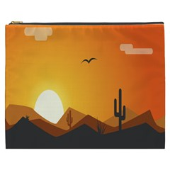 Sunset Natural Sky Cosmetic Bag (xxxl)  by Mariart