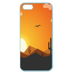 Sunset Natural Sky Apple Seamless Iphone 5 Case (color)