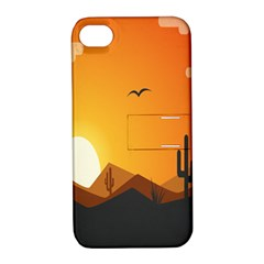 Sunset Natural Sky Apple Iphone 4/4s Hardshell Case With Stand by Mariart