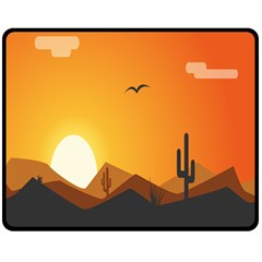 Sunset Natural Sky Double Sided Fleece Blanket (medium)  by Mariart