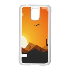 Sunset Natural Sky Samsung Galaxy S5 Case (white) by Mariart