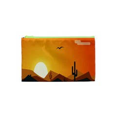 Sunset Natural Sky Cosmetic Bag (xs) by Mariart