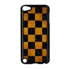 Square1 Black Marble & Yellow Grunge Apple Ipod Touch 5 Case (black) by trendistuff