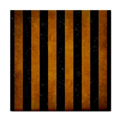 Stripes1 Black Marble & Yellow Grunge Face Towel by trendistuff
