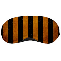 Stripes1 Black Marble & Yellow Grunge Sleeping Masks by trendistuff
