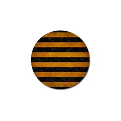 Stripes2 Black Marble & Yellow Grunge Golf Ball Marker (10 Pack) by trendistuff