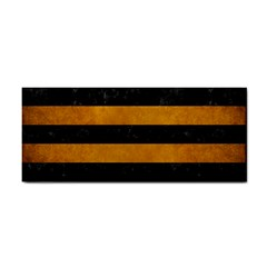 Stripes2 Black Marble & Yellow Grunge Cosmetic Storage Cases by trendistuff