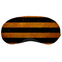 Stripes2 Black Marble & Yellow Grunge Sleeping Masks by trendistuff