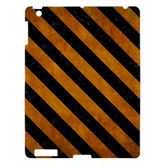 Stripes3 Black Marble & Yellow Grunge Apple Ipad 3/4 Hardshell Case by trendistuff