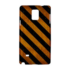 Stripes3 Black Marble & Yellow Grunge Samsung Galaxy Note 4 Hardshell Case by trendistuff