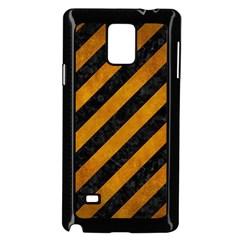 Stripes3 Black Marble & Yellow Grunge (r) Samsung Galaxy Note 4 Case (black) by trendistuff