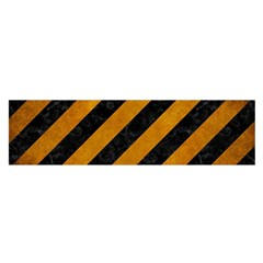 Stripes3 Black Marble & Yellow Grunge (r) Satin Scarf (oblong) by trendistuff