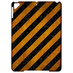 Stripes3 Black Marble & Yellow Grunge (r) Apple Ipad Pro 9 7   Hardshell Case by trendistuff