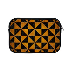 Triangle1 Black Marble & Yellow Grunge Apple Ipad Mini Zipper Cases by trendistuff
