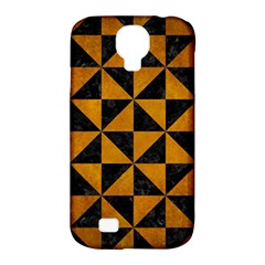 Triangle1 Black Marble & Yellow Grunge Samsung Galaxy S4 Classic Hardshell Case (pc+silicone) by trendistuff