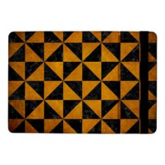 Triangle1 Black Marble & Yellow Grunge Samsung Galaxy Tab Pro 10 1  Flip Case by trendistuff