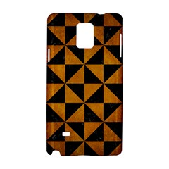 Triangle1 Black Marble & Yellow Grunge Samsung Galaxy Note 4 Hardshell Case by trendistuff