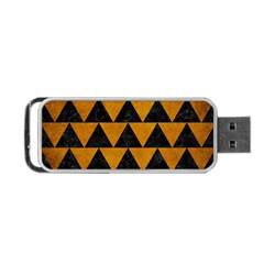Triangle2 Black Marble & Yellow Grunge Portable Usb Flash (two Sides) by trendistuff
