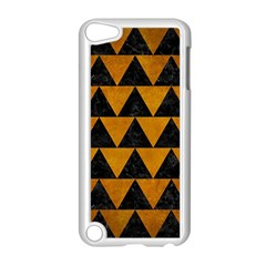 Triangle2 Black Marble & Yellow Grunge Apple Ipod Touch 5 Case (white) by trendistuff