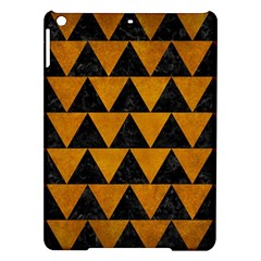 Triangle2 Black Marble & Yellow Grunge Ipad Air Hardshell Cases