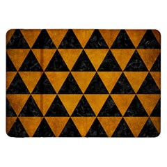 Triangle3 Black Marble & Yellow Grunge Samsung Galaxy Tab 8 9  P7300 Flip Case by trendistuff