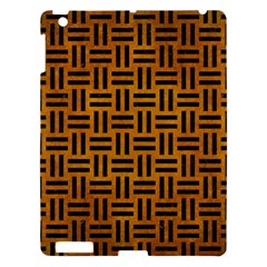 Woven1 Black Marble & Yellow Grunge Apple Ipad 3/4 Hardshell Case by trendistuff