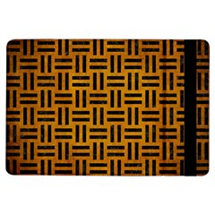Woven1 Black Marble & Yellow Grunge Ipad Air Flip by trendistuff