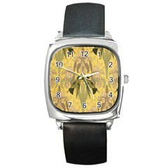 Art Nouveau Square Metal Watch
