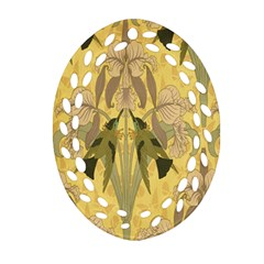 Art Nouveau Oval Filigree Ornament (two Sides) by 8fugoso