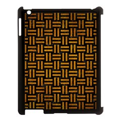 Woven1 Black Marble & Yellow Grunge (r) Apple Ipad 3/4 Case (black) by trendistuff