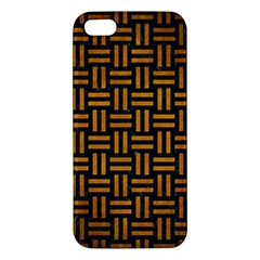 Woven1 Black Marble & Yellow Grunge (r) Iphone 5s/ Se Premium Hardshell Case by trendistuff