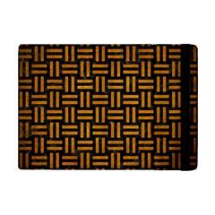 Woven1 Black Marble & Yellow Grunge (r) Ipad Mini 2 Flip Cases by trendistuff