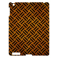 Woven2 Black Marble & Yellow Grunge Apple Ipad 3/4 Hardshell Case by trendistuff