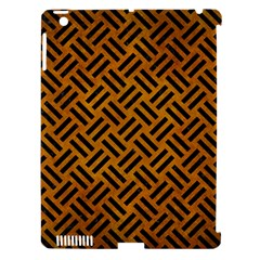Woven2 Black Marble & Yellow Grunge Apple Ipad 3/4 Hardshell Case (compatible With Smart Cover) by trendistuff