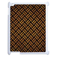 Woven2 Black Marble & Yellow Grunge (r) Apple Ipad 2 Case (white) by trendistuff