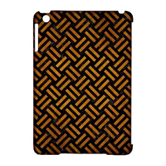 Woven2 Black Marble & Yellow Grunge (r) Apple Ipad Mini Hardshell Case (compatible With Smart Cover)